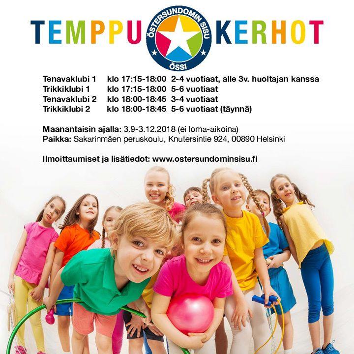 Össin suosituissa temppukerhoissa on vielä paikkoja vapaana! Temppukerhot alkavat ensi maanantaina Temppukerhoissa lapset pääsevät…
