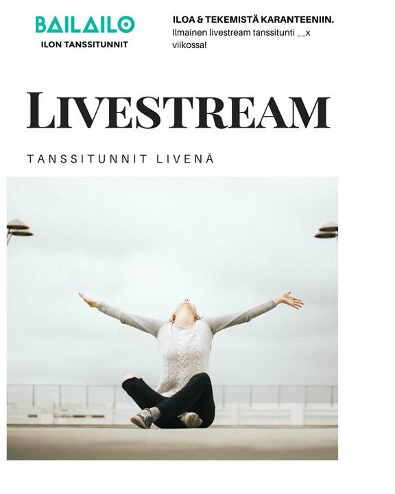 Tänään Latinmix tunnin tilalle ilmainen live-stream ▶️ Klikkaa itsesi Bailailon facebook-sivulle Tänään pe klo…