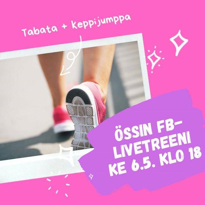 Keskiviikkona klo 18 – nostetaan sykettä ja treenataan lihaskuntoa ja liikkuvuutta- Sykeosiot tabata-tyyliin: 20…