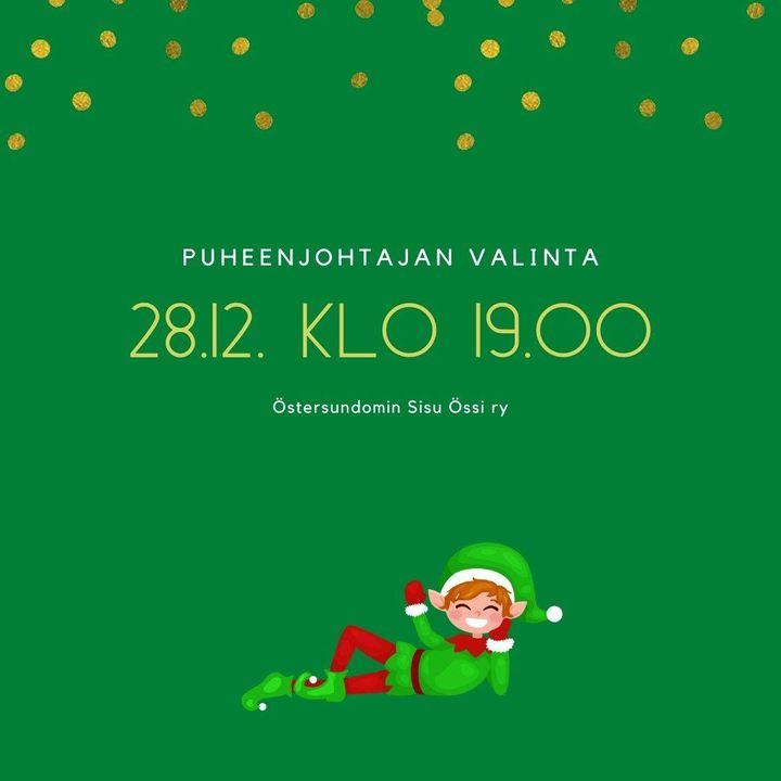 Össin Joulukalenteri luukku 16 Össin syyskokouksessa jäi puheenjohtaja valitsematta. Joten pieni aikalisä tämän kanssa…