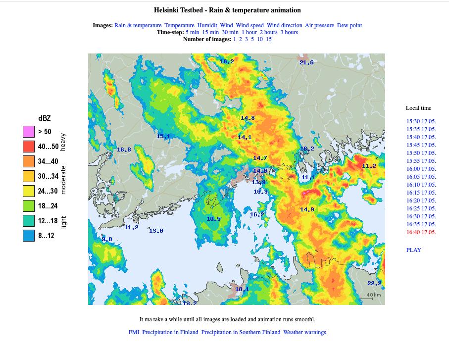 sadetutka - sataa klo 18-19